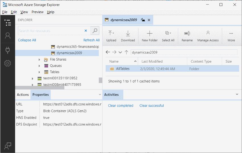 ExportingLegacyDataIntoADLS_Azure_storage_explorer