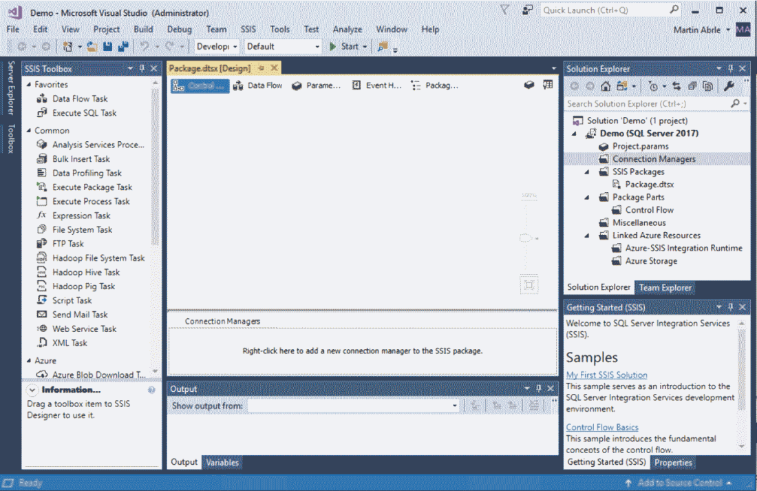 Empty SSIS Project