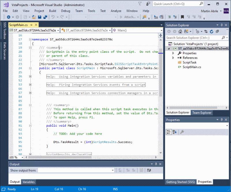 ScriptTask VS Editor